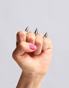 Spike Double Finger Ring