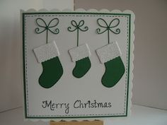 Lizzies craft space: Memory box Christmas Cards - Stockings