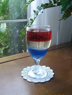 USA Red White and Blue Candle made with Gel by LivingTreeCandles