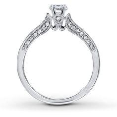 Jared - Diamond Ring Setting 1/4 ct tw Round-cut 14K White Gold