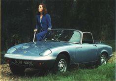 Mrs. Emma Peel (Diana Rigg) and her Lotus Elan S3
