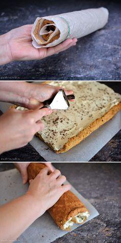 Blat de ruladă din pandișpan, cea mai simplă rețetă | Bucate Aromate Tiramisu, Pastry Cake, Banana Bread, Brunch, Food And Drink, Sweets, Cookies, Baking, Breakfast