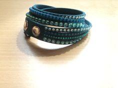 Turquoise Swarovski slake bracelet