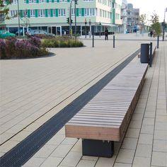 SL Rough&Ready Crosswise Bench - lange rechte bank anti skate met zitting van hout