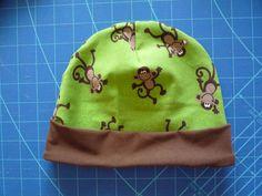 014 Čepička opička Beanie, Hats, Tela, Caps Hats, Patterns, French Fabric, Hat, Beanies, Hipster Hat