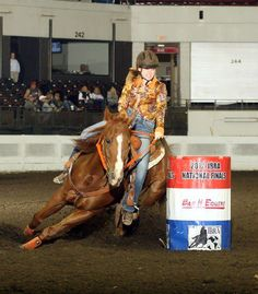 Megan Sparks, 14 year old Champion Barrel Racer, will be speaking at the 4th Riders4Helmets Safety Symposium in February 2013