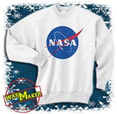 nasa logo sweatshirt crewneck nasa logo shirt nasa by warmmaker