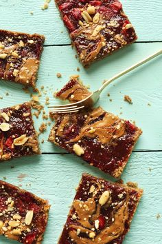 ALMOND Butter and Jelly Bars   Minimalist Baker Recipes EXCEPT USE ALMOND BUTTER