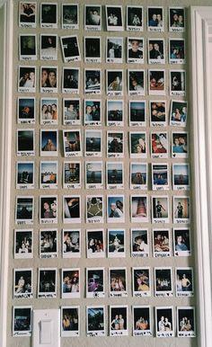89 elegant dorm room decorating ideas - Top Of The World Bedroom Wall, Bedroom Decor, Bedroom Ideas, Polaroid Wall, Instax Wall, Tumblr Rooms, Cute Room Decor, Picture Room Decor, Wall Decor