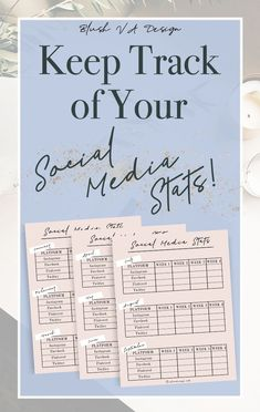 Keep track of your social media stats with these printable PDFs! Perfect for bloggers and small businesses! Social media printable, social media tracker! Blogging resources, blogging tips.
