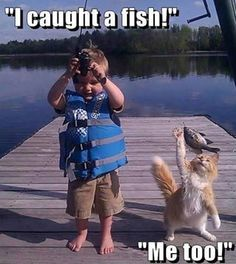 I caught a fish!...