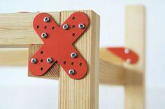 Metal Band-aids to Fix Furniture by Beza Projekt