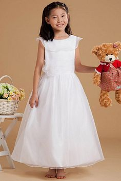 Cheap communion gown, Buy Quality first communion gowns directly from China first communion Suppliers: 2017 Pleat Ruffles Flower Girl Dresses Party Handmade Flowers First Communion Gown for Girls Pageant Dress Kids Evening Dresses Plus Size Prom Dresses, Short Sleeve Dresses, Wedding Party Dresses, Bridesmaid Dresses, Silhouette, Cheap Flower Girl Dresses, White Ball Gowns, Organza Flowers, Gowns For Girls