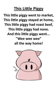 Itty Bitty Rhyme: This Little Piggy
