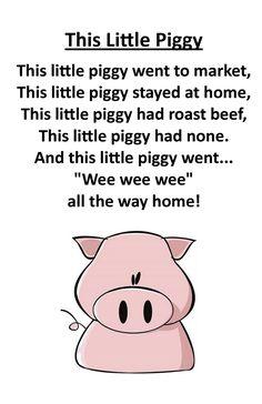 Itty Bitty Rhyme: This Little Piggy
