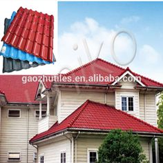 hot sale new products ASA PVC synthetic resin sheets ridge tile and the other accessories plans house house foshan