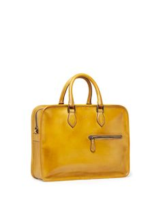Berluti Single-Zip Leather Briefcase