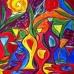 COCKTAIL - Original Abstract Modern Painting by artist Luiza Vizoli Enjoy more original paintings at : http://www.ARTbyLuizaVizoli.com Thank you.