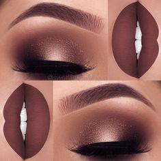 Makeup tutorial dark skin lips 41 Super ideas Make-up Tutorial dunkle Haut Lippen 41 Super Ide Cute Makeup, Gorgeous Makeup, Pretty Makeup, Flawless Makeup, Simple Makeup, Makeup Goals, Makeup Inspo, Makeup Ideas, Makeup Style