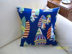 Spinnakers by hmishke on Etsy, Nautical Pillow Covers, Nautical Pillows, Throw Pillows, Trending Outfits, Unique Jewelry, Handmade Gifts, Vintage, Etsy, Kid Craft Gifts