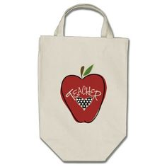 Red Apple & Heart Teacher Bag from The Pink Schoolhouse