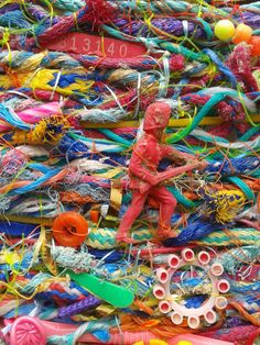 Greetings card  It's Only a Game 2014 flotsam by FlotsamWeaving, £2.00 contemporary pop colour beach find collage art photography print