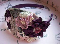 Diadema de novia vintage para tu tocado de novia    Foto de Cabecita de novia