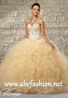 Mori Lee Quinceanera Dresses Style 89024 Colors: Champagne/Gold, Champagne/Coral, Champagne/Blush http://www.abcfashion.net/mori-lee-quinceanera-dresses-89024.html