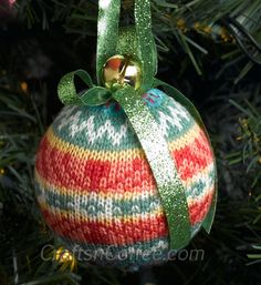 It is a hot, dry week here and my basil plants are fried. It's definitely not sweater weather, but after today's Sweater Ornament tutorial, I hope you'll pull out an old sweater or two and make a f…