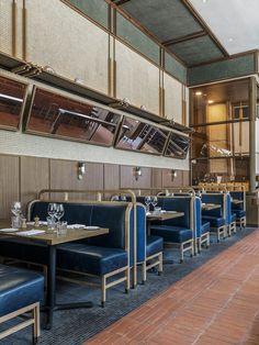 Thompson DC | Parts and Labor Design. Restaurant booth seating.