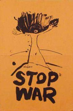 DP Vintage Posters - USA 60's Anti-War Original Vintage Political Protest Poster Stop War