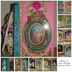 """Portraits of Marie Antoinette""oversize mini-album - lots of interactive pages and lavish ornamentation. Available at https://www.zibbet.com/enchanted-revelries/portraits-of-marie-antoinette-handmande-album-ooak"