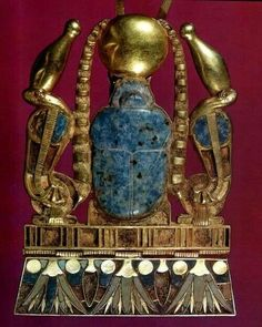 Ancient Egyptian scarab pendant
