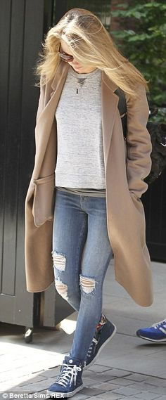 Camel and grey