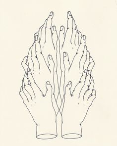 Hände zeichnen idol hands ink on paper, justinbryannelson Art And Illustration, Graphic Design Illustration, Illustrations Posters, Symbol Hand, Karten Diy, Arte Sketchbook, Art Inspo, Art Drawings, Art Photography