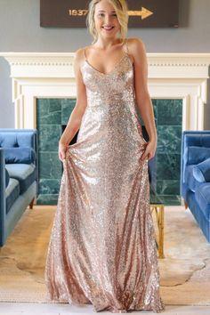 Waltz Rose Gold Dress – Hazel & Olive