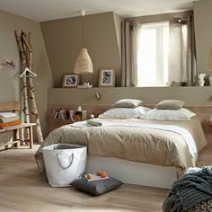 peinture chambre adulte Idee Deco Chambre Adulte violet marron ...
