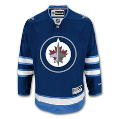 Winnipeg Jets Reebok Premier Replica Home NHL Hockey Jersey Nhl Hockey  Jerseys 64d061e5c54