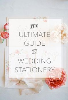 A comprehensive list of every piece of wedding stationery you'll need! | Brides.com