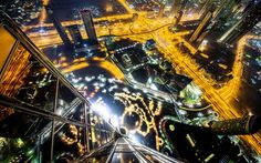 Dizzying shot from a Dubai skyscraper