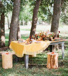 An Autumn Sunset Bridal Soiree
