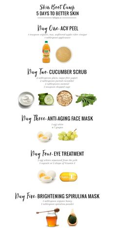 This skin bootcamp regimen will give you more radiant, healthier skin in just 5 days! All you need is a few minutes each night and some simple ingredients.