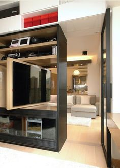 Swivel TV - Room Divider or between Bedroom and Living Room