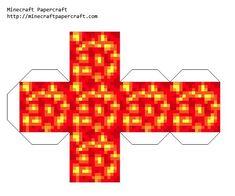 Minecraft Papercraft Lava