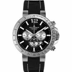 Jacques Lemans 1-1717A Case Black Leather Men's & Women's Watch