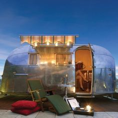 little airstream. Really want a camper for me and the lady...and pup of course