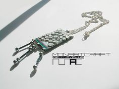 Handmade jeweleries from recycled electric materials