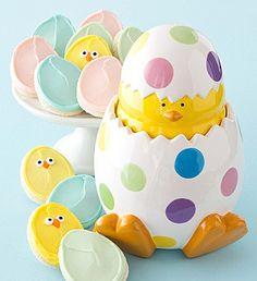 Easter Cookie Jar with 12 Easter Cookies. $39.99