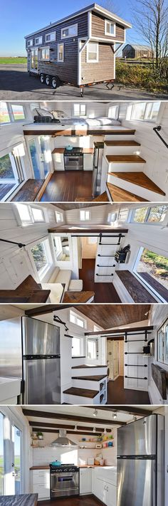 San Francisco couple Maren Engh and Max Jallifier decided to stop paying $3,500 a month for their apartment and had a custom tiny house built by Mint Tiny Homes. The couple spend $80,000 for the tiny house, including $15,000 worth of solar panels so they could live off-grid.