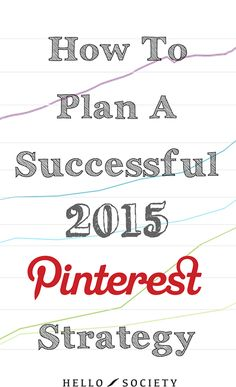 What Pinterest-related goals did you accomplish in 2014? A certain number of followers? Increased average engagement? A regular pinning routine? Higher traffic from Pinterest? Implementing Rich Pins? Optimizing your website for Pinterest? Read the full article written by Zoe Waldron from @hellosociety on their website!